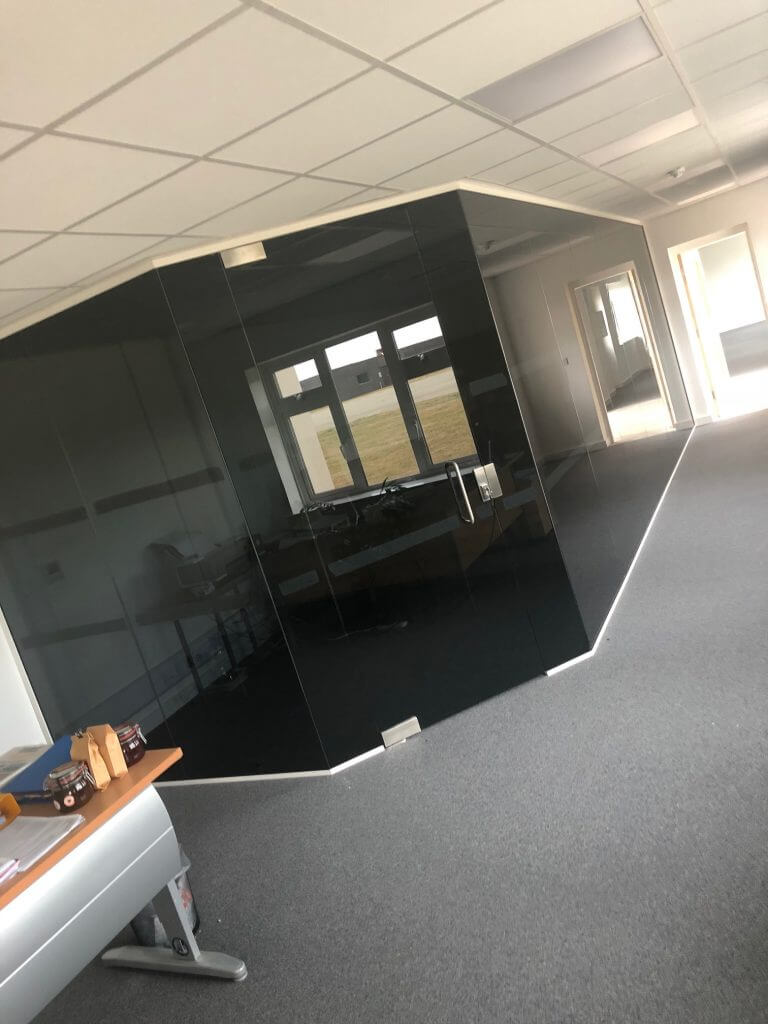 smoked glass office for privacy