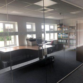 glass office installation