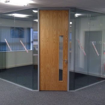 glass corner office